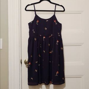 Brand New Madewell navy floral dress